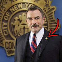 Load image into Gallery viewer, NYPD Commissioner Lapel Pin as seen on Blue Bloods real 24KT Gold and Silver Plated BL9-017