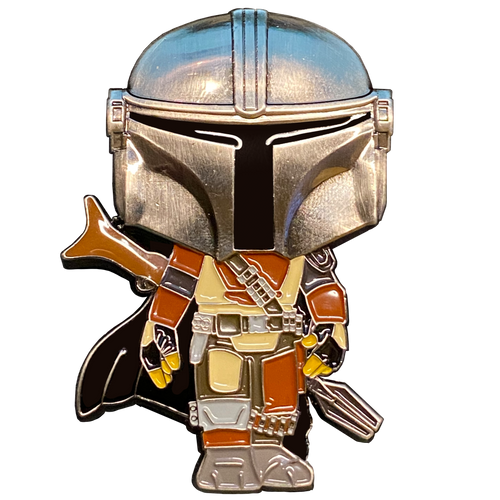 Star Wars Mandalorian inspired Guy with The Child Thin Red Line Fire Fighter Fireman Department BH-017
