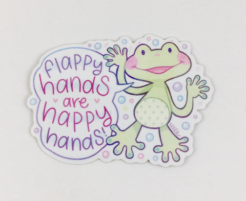 Flappy Hands are Happy Hands Autism Acceptance Glossy Sticker