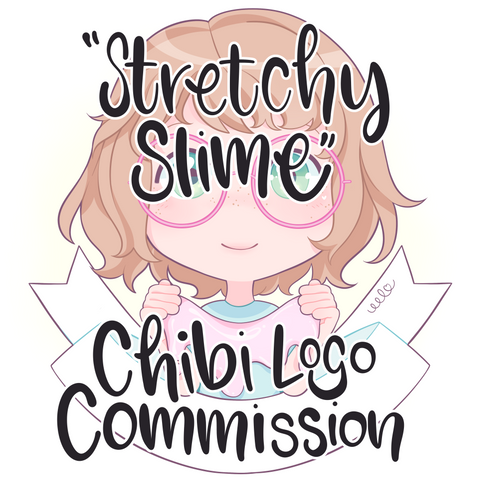 "Digital ""Stretchy Slime"" Logo Commission (custom artwork from a base)"