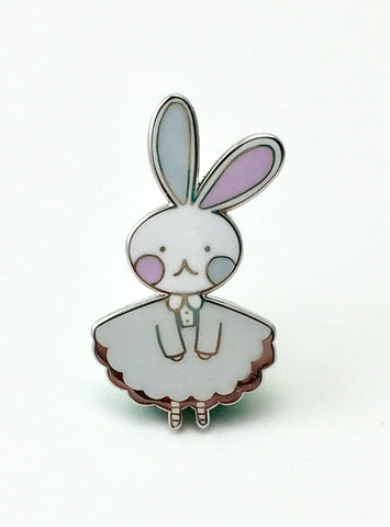Bunny Logo Hard Enamel Pin- Winter