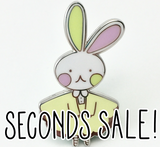 Imperfect/Seconds Bunny Logo Hard Enamel Pin- Spring