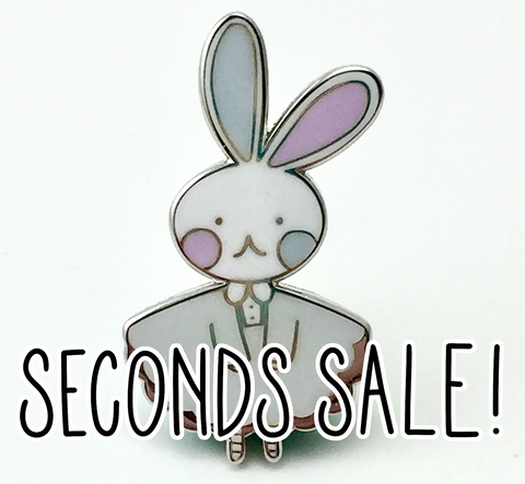 Imperfect/Seconds Bunny Logo Hard Enamel Pin- Winter