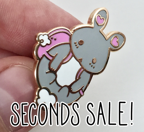 Imperfect/Seconds Backpack Bunny Enamel Pin