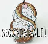Imperfect/Seconds Ice cream Snake Hard Enamel Pin- Rocky Road Flavour