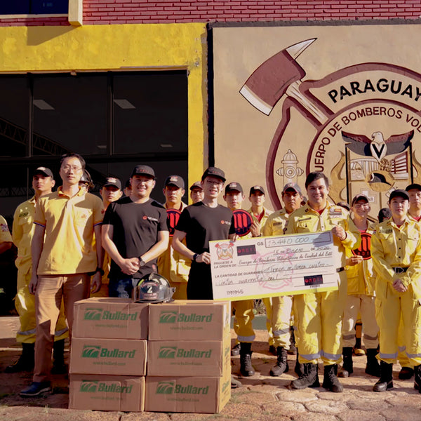 MOTI donates equipment and cash to Paraguayan fire station