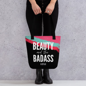 "#irockthesportsbra ""Beauty and the Badass"" Color Splash Tote Bag"