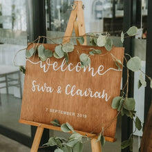 Load image into Gallery viewer, Wedding Welcome Sign (Wood)