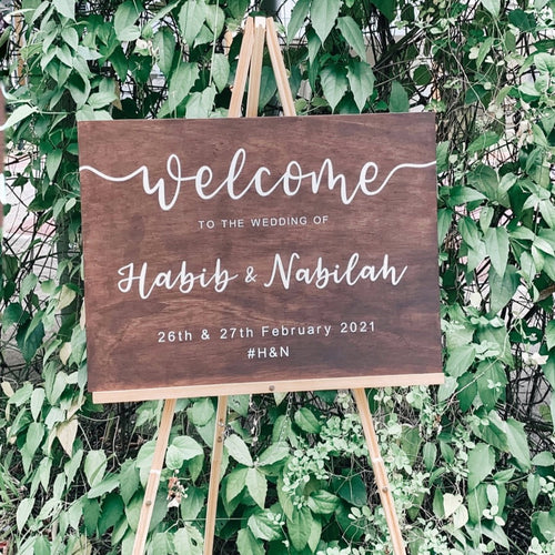 Wooden Wedding Welcome Sign (Semi-Custom)