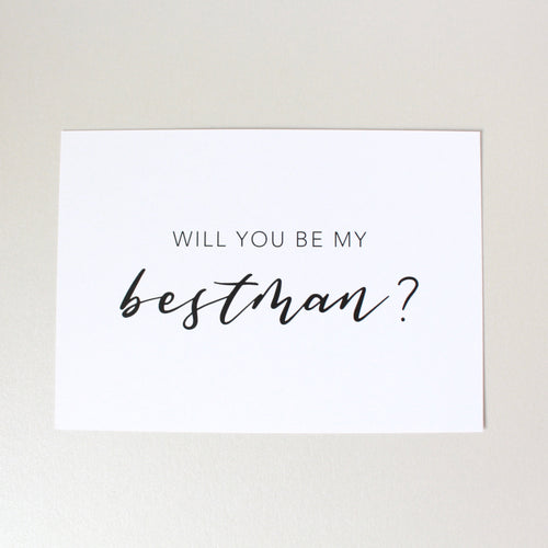 Will You Be My Bestman? Card