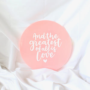 Petite Wedding Sign with Custom Quotes - Round (Acrylic)