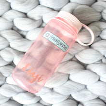 Load image into Gallery viewer, 16 Oz Personalised Water Bottle (Fire Pink)