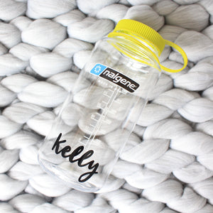 32 Oz Personalised Water Bottle (Clear)