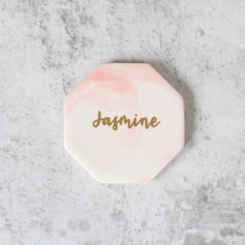 Octagon Marbled Coaster (Sweet Pink)