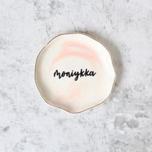 Load image into Gallery viewer, Ruffles Trinket Dish (Marbled - Sweet Pink)