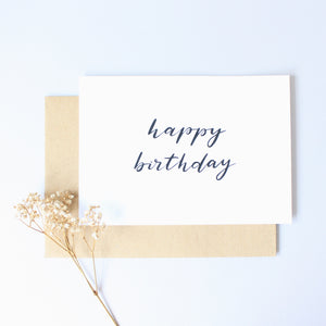 Calligraphy Card - Happy Birthday