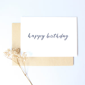 Calligraphy Cards - Happy Birthday