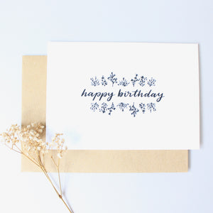 Happy Birthday (Botanics) Card
