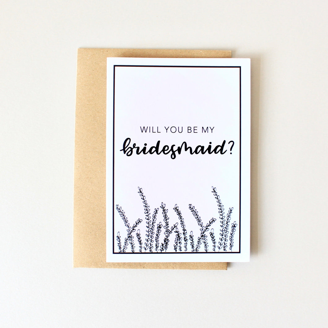 Will You Be My Bridesmaid? Card (Lavender)