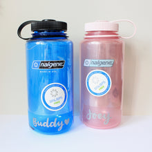 Load image into Gallery viewer, 32 Oz Personalised Water Bottle (Blue)