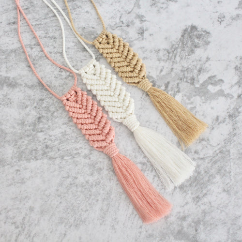 Macrame Accessories (Chevron Series)