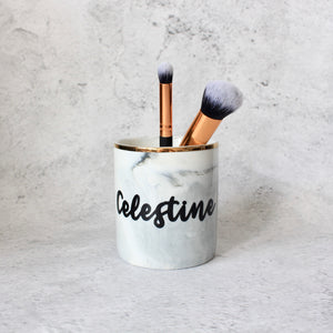 Makeup Brush/Stationery Holder (Charcoal)