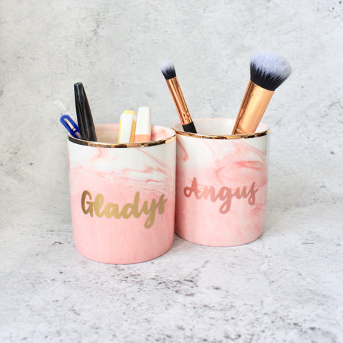 Makeup Brush/Stationery Holder (Sweet Pink)