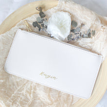Load image into Gallery viewer, Personalised Zipper Pouch (Cream White)
