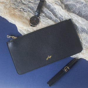 Personalised Zipper Pouch (Solid Black)