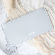 Load image into Gallery viewer, Personalised Zipper Pouch (Light Grey)