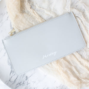 Personalised Zipper Pouch (Light Grey)