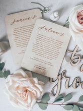 Load image into Gallery viewer, Personalised Wood Vows Set (1 pair)