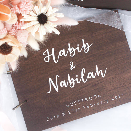 Wedding Guestbook (Wood)
