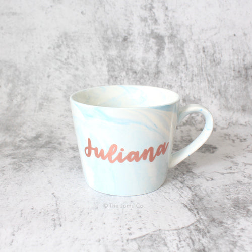 Oblique Coffee Mug (Light Blue)