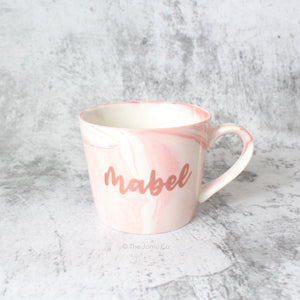 Oblique Coffee Mug (Sweet Pink)