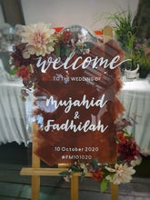 Load image into Gallery viewer, Wedding Welcome Sign (Acrylic)
