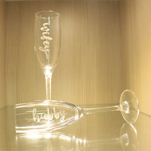 Load image into Gallery viewer, Engraved Flute Glasses (1 pair)