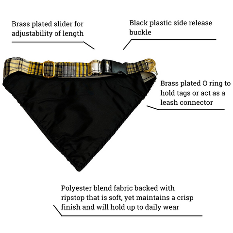 yellow plaid bandana feature list