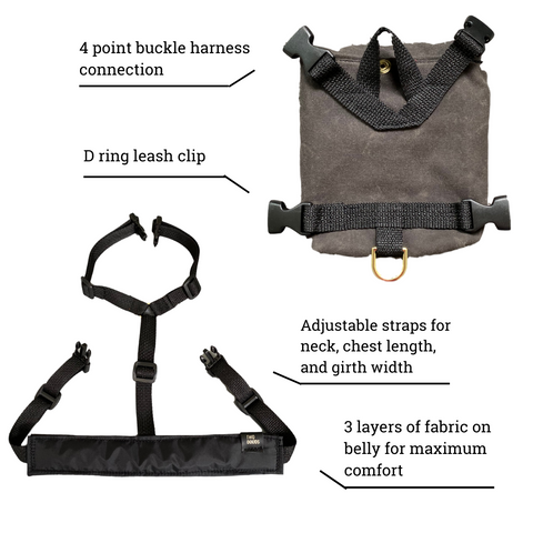 description of dog backpack features