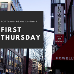 Portland pearl district First Thursday banner
