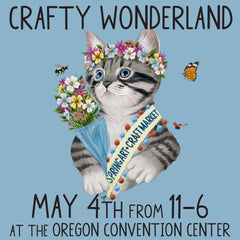 Crafty wonderland craft fair banner