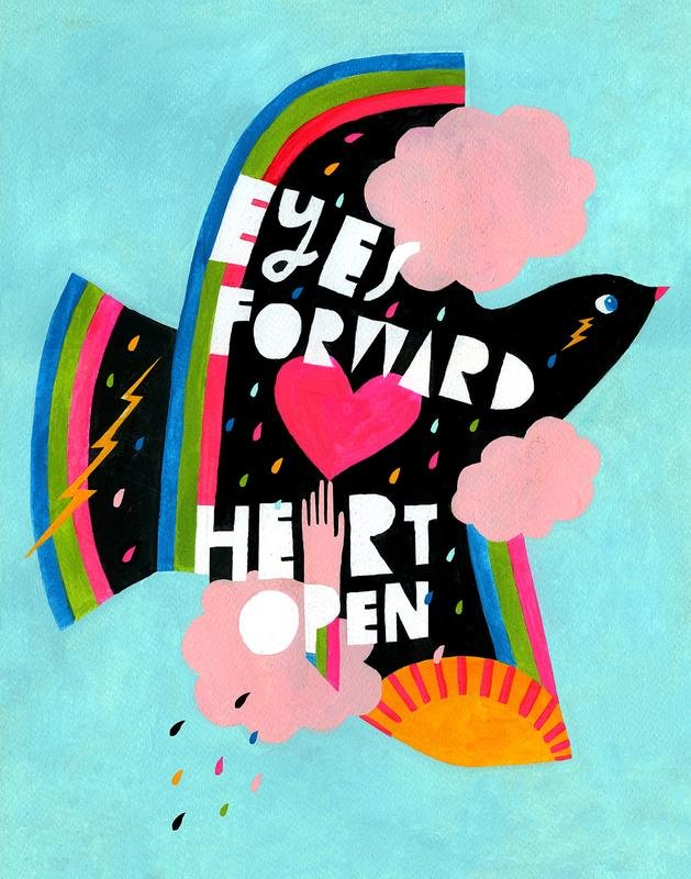 Lisa congdon print eyes forward heart open