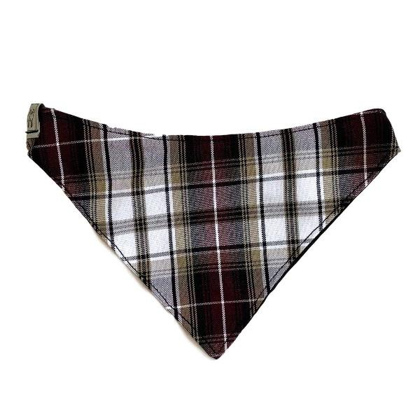 Metro Bandana Collar - Burgundy Plaid - Wag Theory