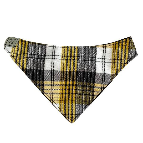 Metro Bandana Collar - Yellow Plaid - Wag Theory
