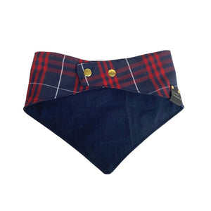 Navy Plaid Bandana - Wag Theory