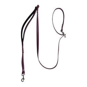 Waterproof Biothane Leash with Traffic Lead - Burgundy - Wag Theory