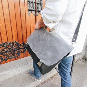 Waxed Canvas Laptop Messenger Bag - Wag Theory