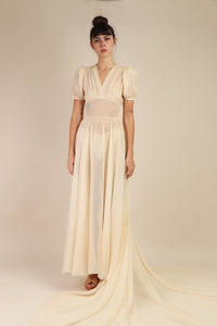 Chiffon Wedding Gown With Train