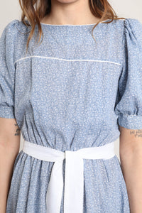 70s Psychedelic Victorian Maxi Dress