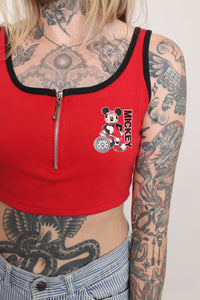 80s Orange Cotton Tent Dress